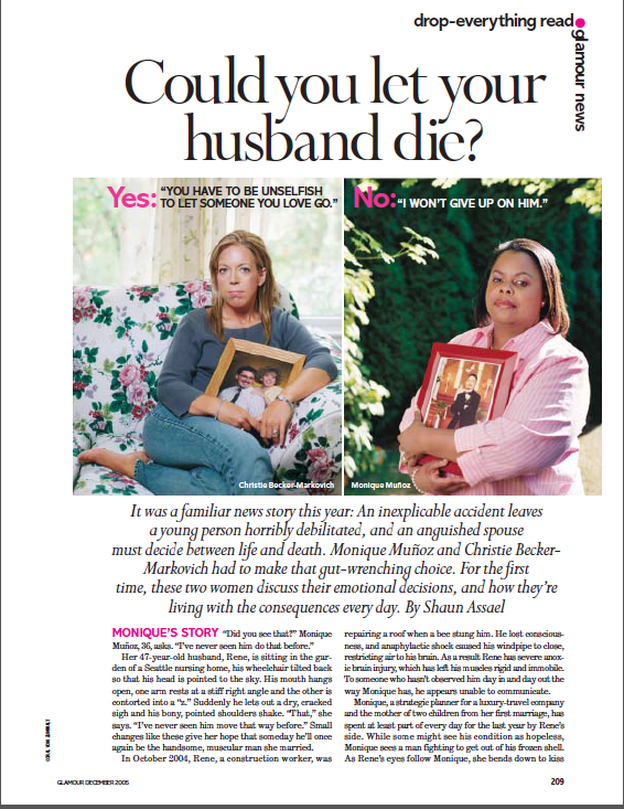 Monique & Rene Glamour Magazine Article
